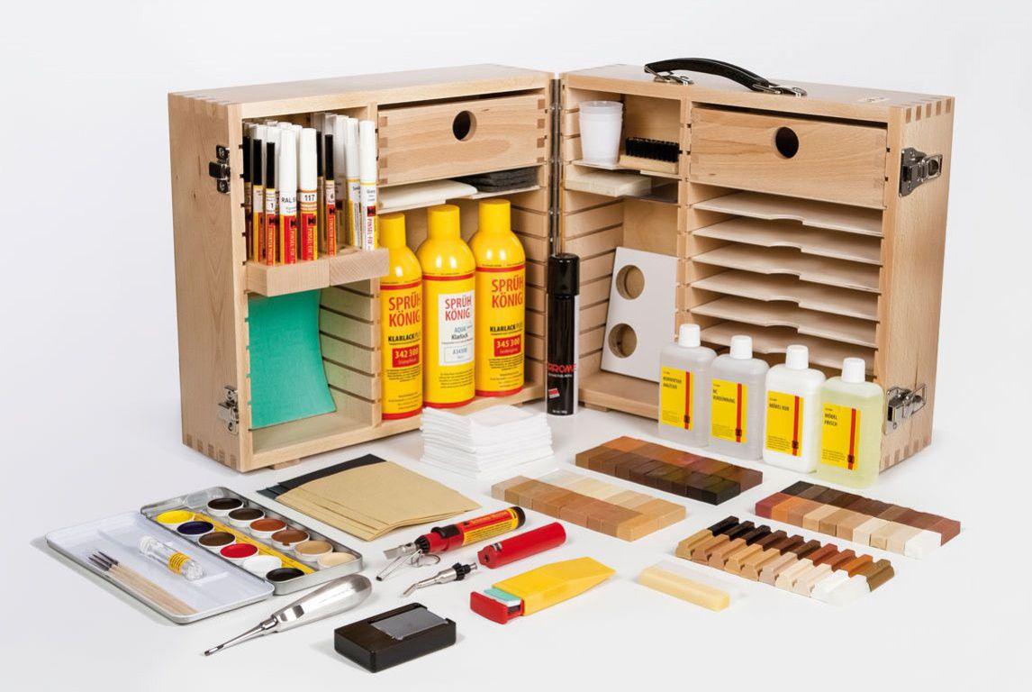 Reparatur-Koffer für Holzböden und Holztreppen